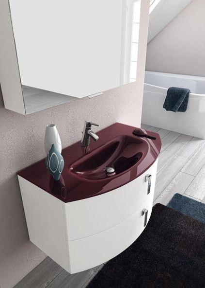 Spazio arredo arredo bagno flash punto tre arredo bagno - Mobile bagno stondato ...