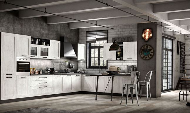 Cucina quercia bianca