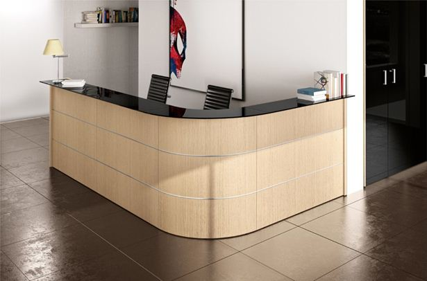 Spazio arredo ufficio banconi reception arredamento for Mobile reception ufficio