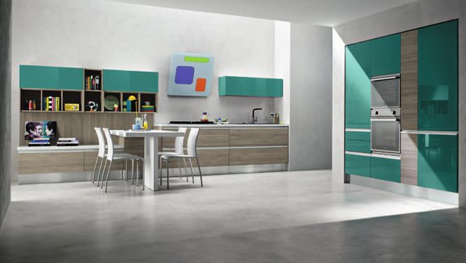 Spazio arredo cucine moderne linea glam artec - Cucine in linea moderne ...